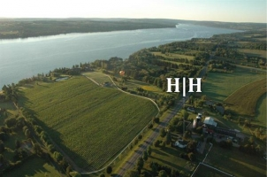 Aerial View from Hot Air Balloon of the Hobbit Hollow Property
