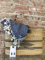 Basket purse-fair trade from Ghana, Turkish scarf, locally crafted earrings.