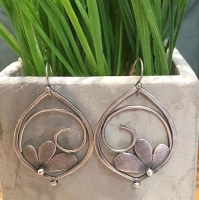 Sterling Silver earrings by Massachusetts artist Julia Britell